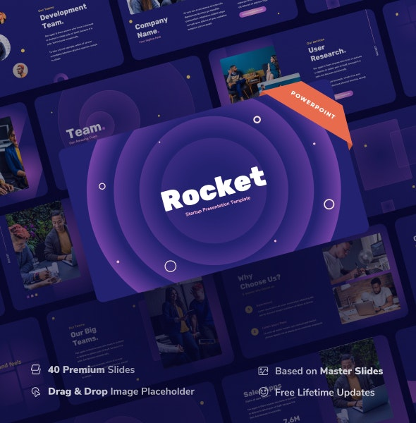 Rocket - Startup Power Point Presentation - Business PowerPoint Templates