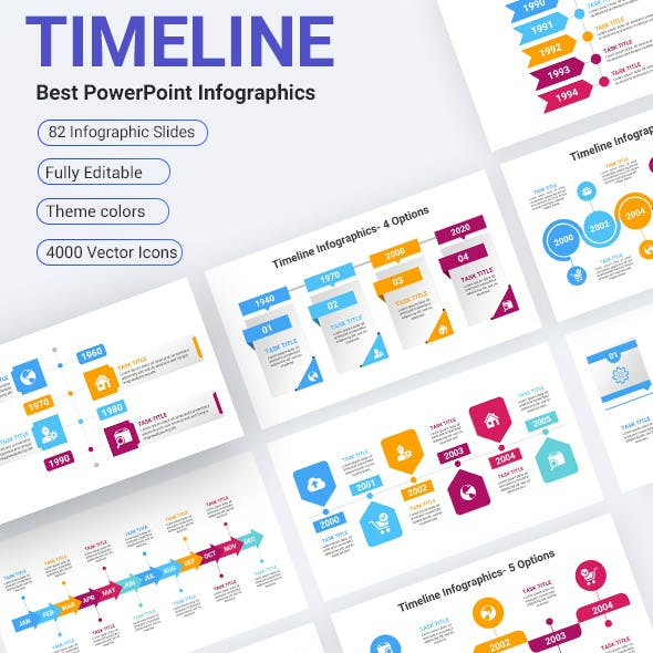 Timeline Infographics PowerPoint Diagrams Template
