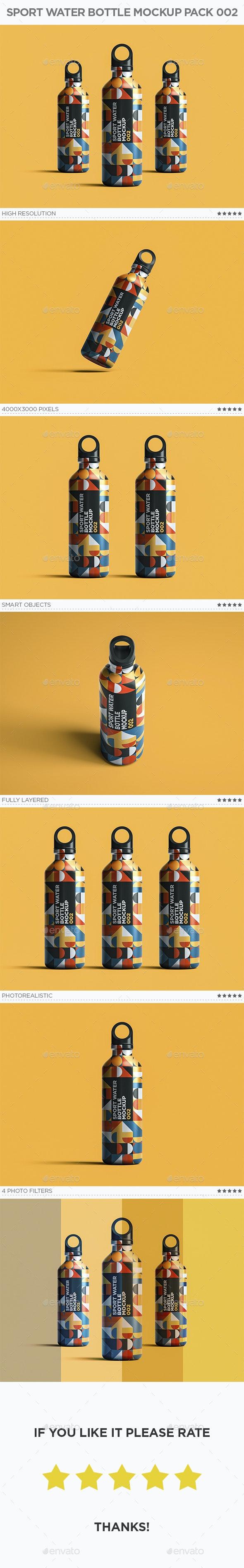 Sport Water Bottle Mockup Pack 002 - Food and Drink Packaging