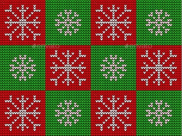 Christmas Knitted Seamless Ornament - Christmas Seasons/Holidays