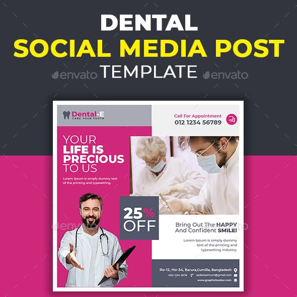 Dental Medical Social Media Post Template