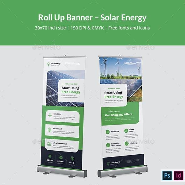 Roll Up Banner – Solar Energy