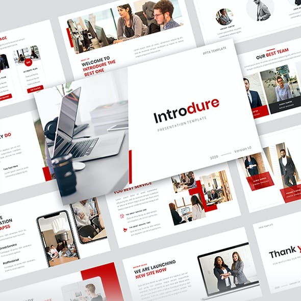 Introdure - Company Profile PowerPoint Presentation Template