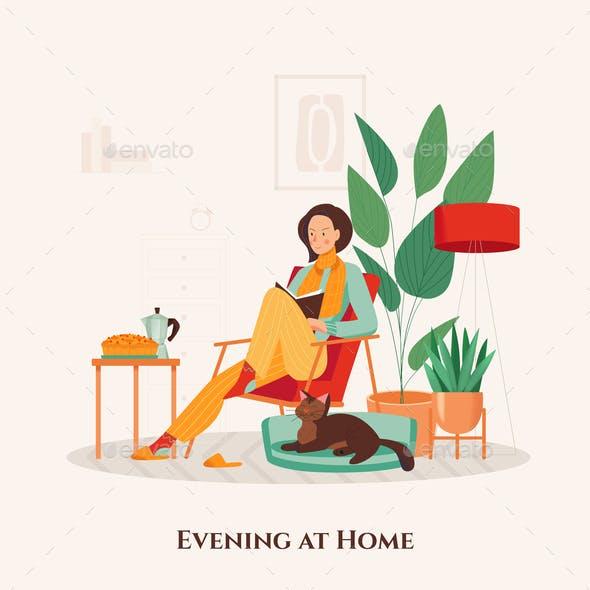 Cozy Home Illustration