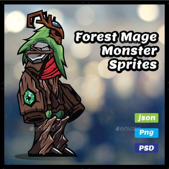 Forest Mage Monster Sprites
