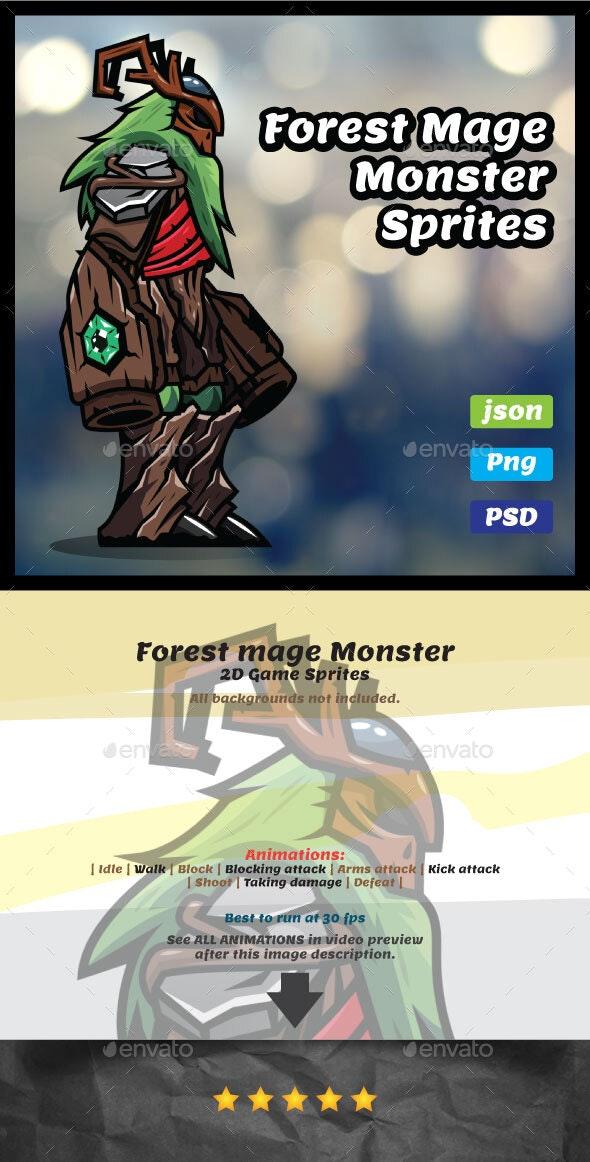 Forest Mage Monster Sprites - Sprites Game Assets