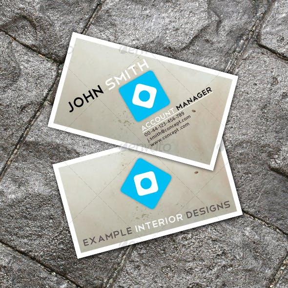 Clean Interior Design Business Card