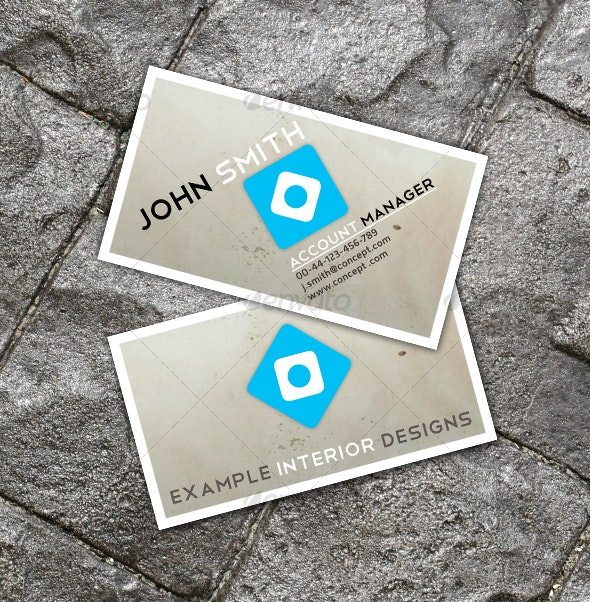 Clean Interior Design Business Card - Creative Business Cards