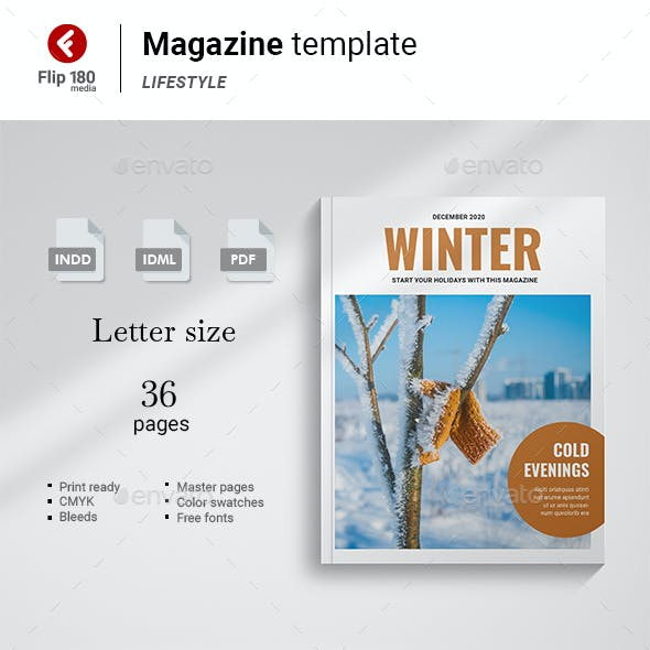 Winter Magazine Template