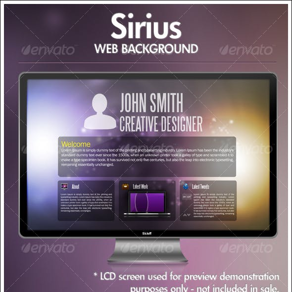 Sirius Web Backgrounds