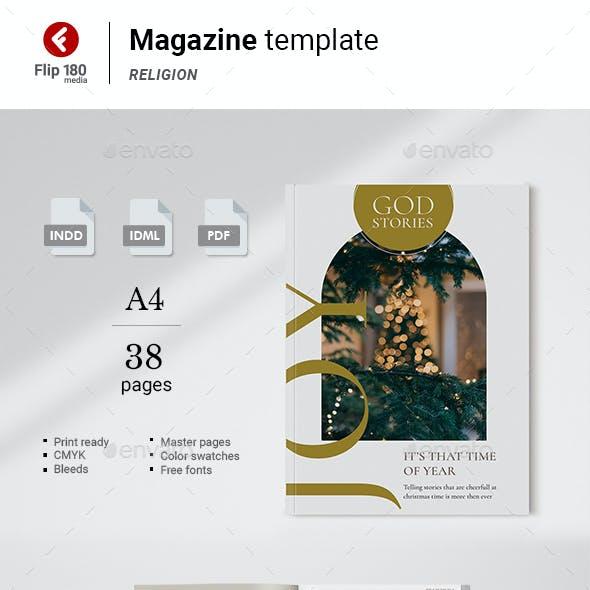 God Stories Magazine Template