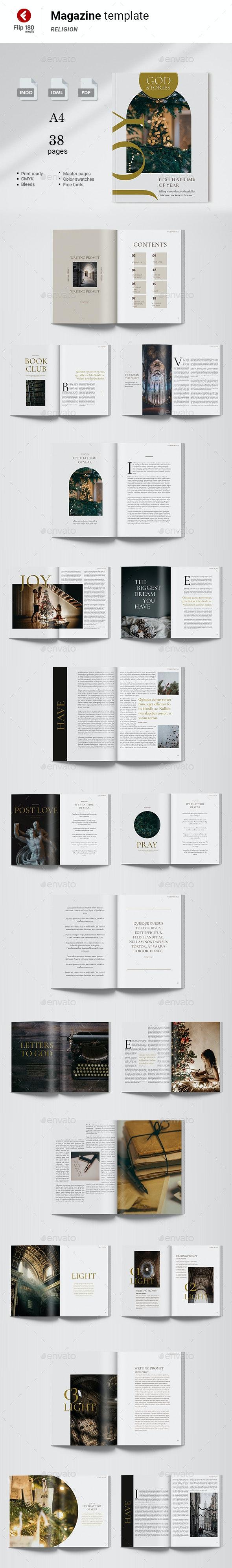 God Stories Magazine Template - Magazines Print Templates