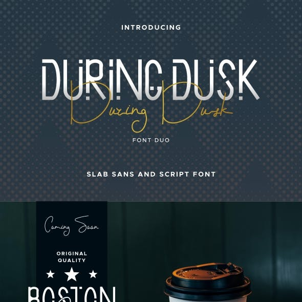 During Dusk Font Duo
