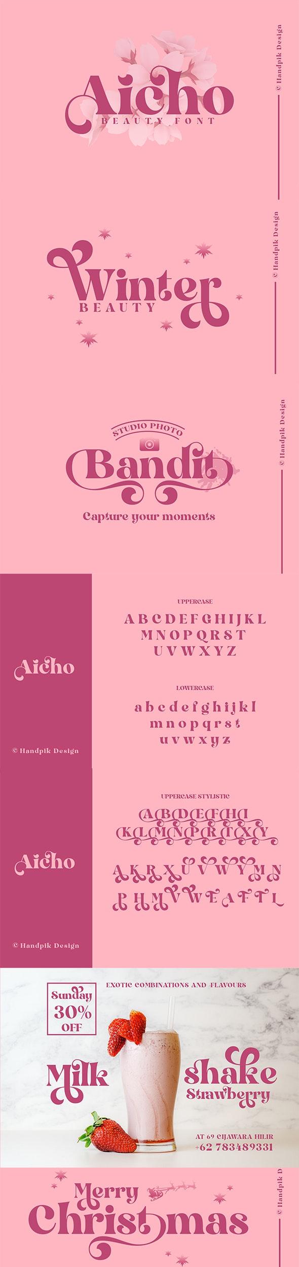 Aicho Beauty Font - Serif Fonts