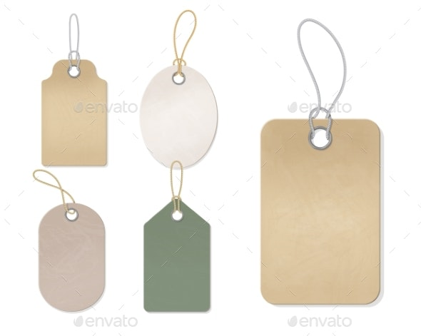 Blank Gift Box Tags or Sale Shopping Labels - Miscellaneous Vectors