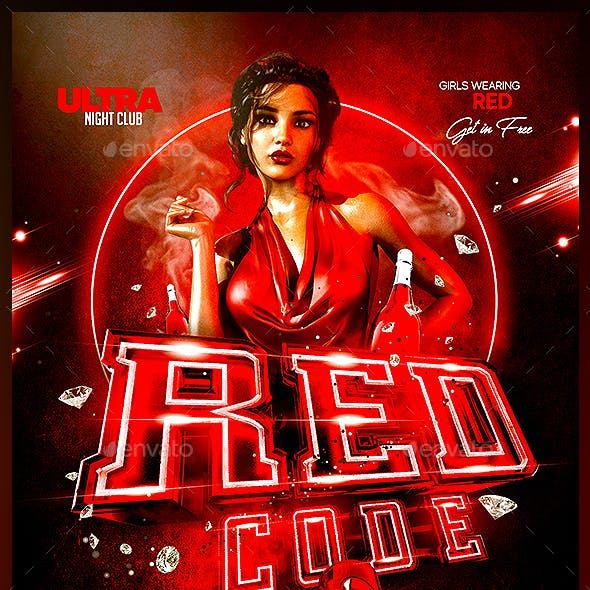 Red Code Party Flyer