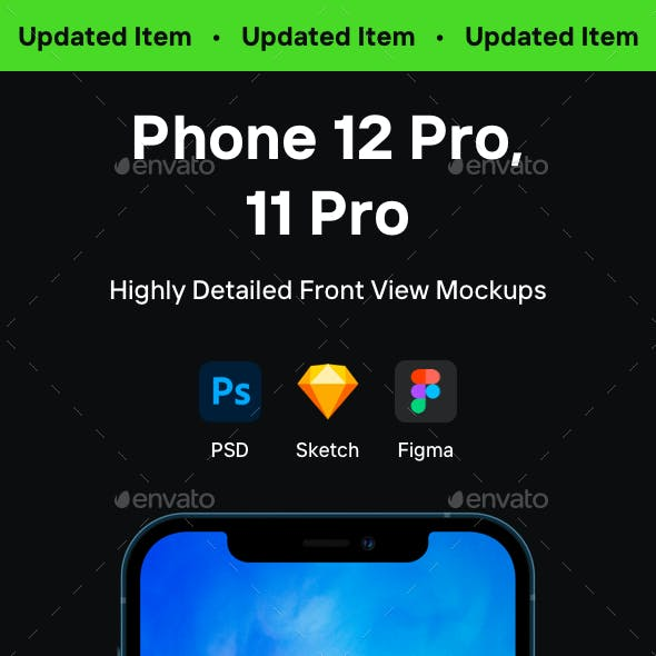 Phone 12 Pro and Phone 11 Pro Mockups