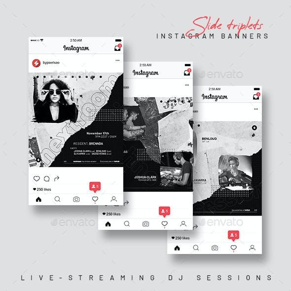 Instagram Banner Templates – Live Streaming DJ Session