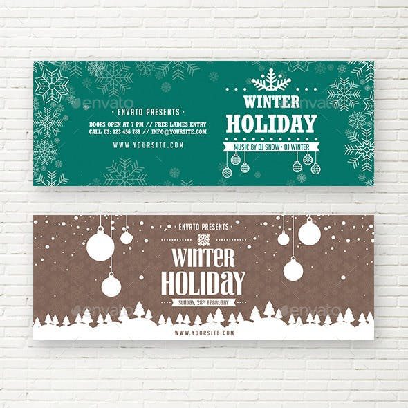 Winter Holiday Web Sliders