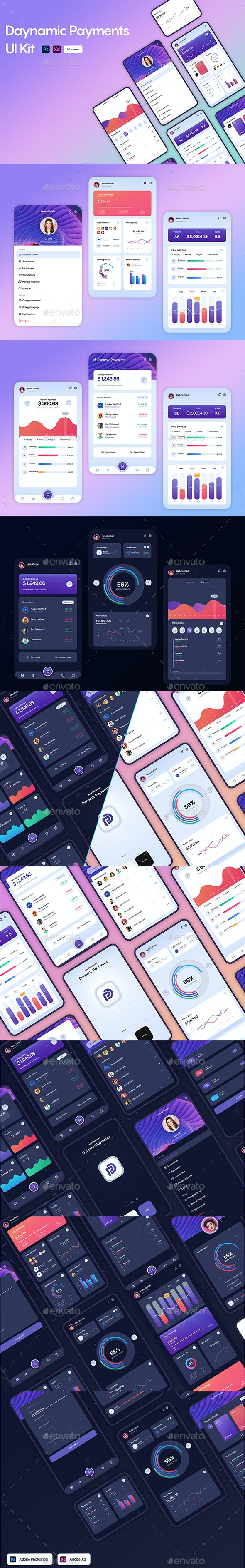 Dynamic Payments UI Kit - User Interfaces Web Elements