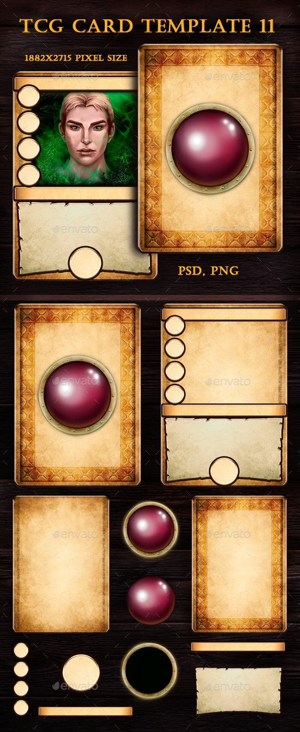 TCG Card Template 11 - Miscellaneous Game Assets