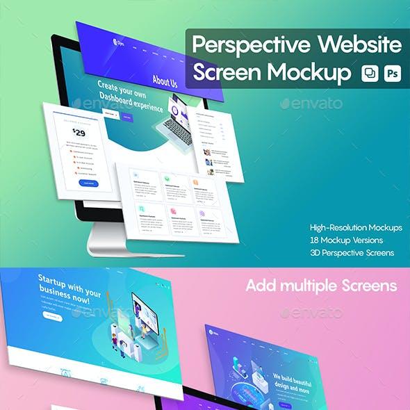 Perspective Website Screen Mockup