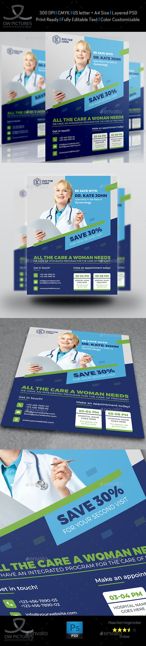 Medical Doctor Flyer Template - Flyers Print Templates