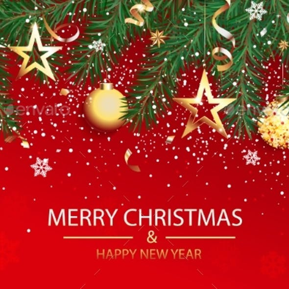 Wishing Card for Christmas and Happy 2021 New Year
