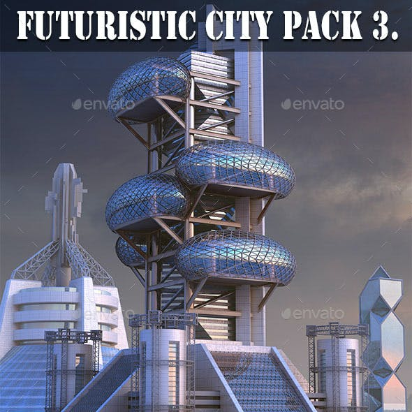 Futuristic City Pack 3