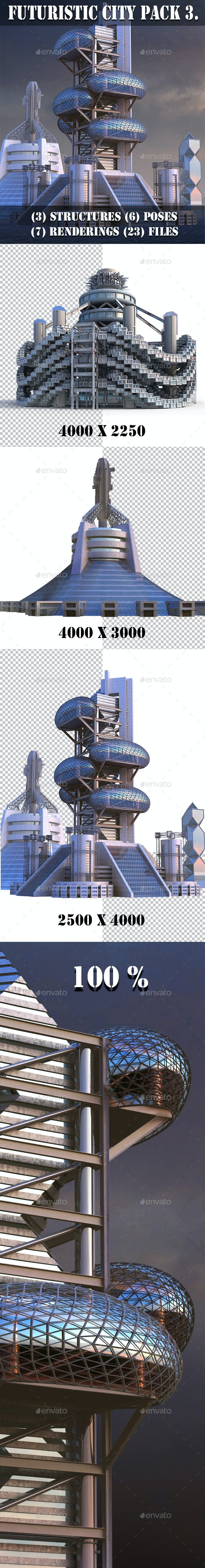 Futuristic City Pack 3 - Architecture 3D Renders