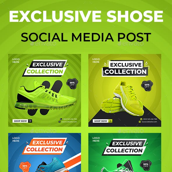 Exclusive Shoes Social Media Template