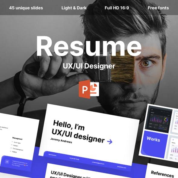 Resume UX/UI Designer