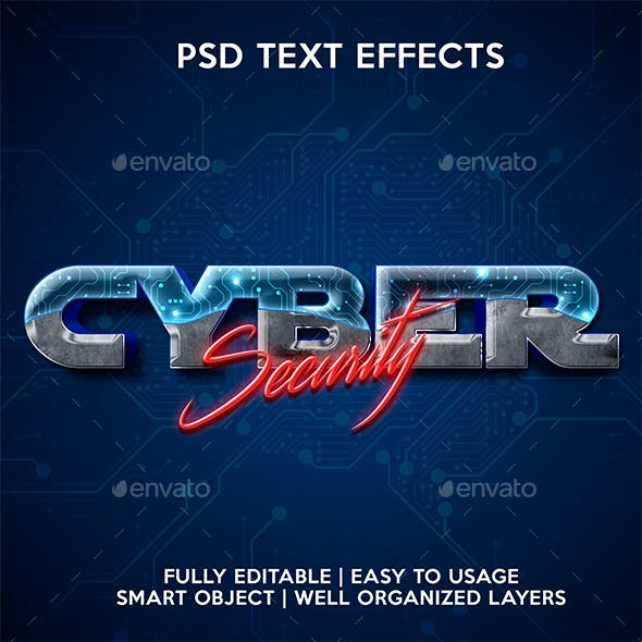 Cyber Text Effect template