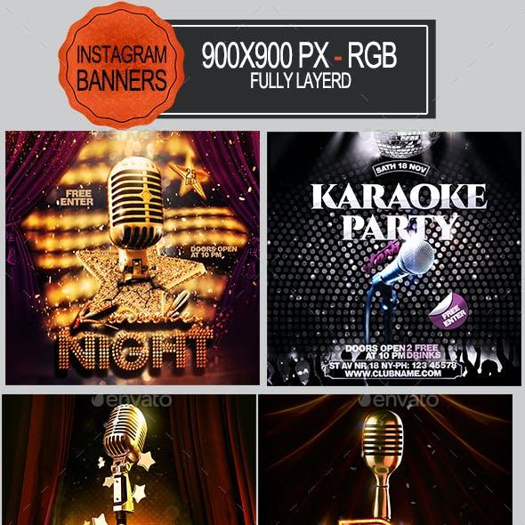 Karaoke Instagram Banners