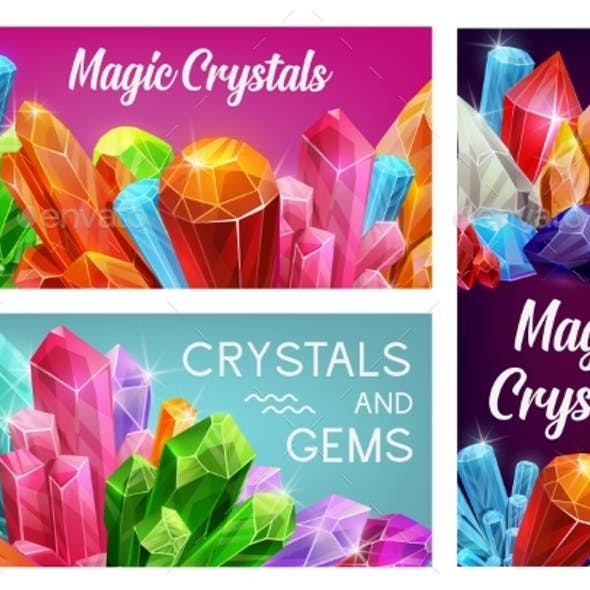 Magic Crystals and Gems