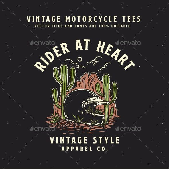 vintage motorcycle - t-shirt design