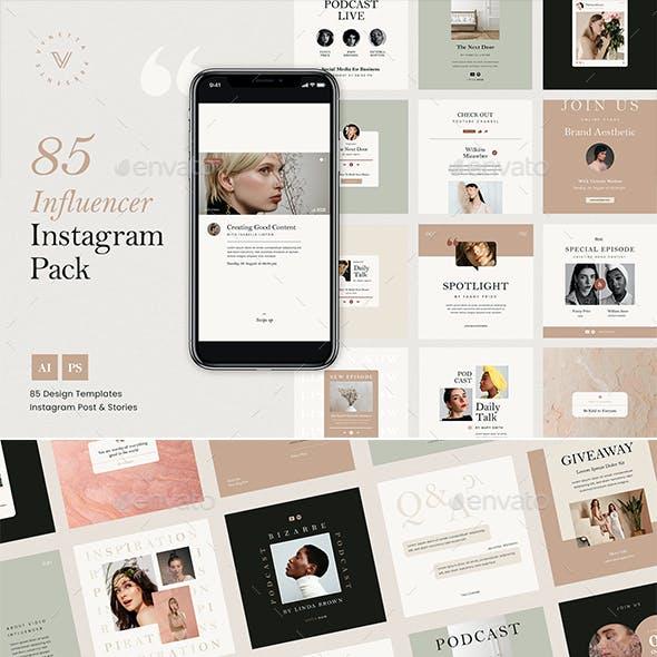 Influencer Instagram Packs