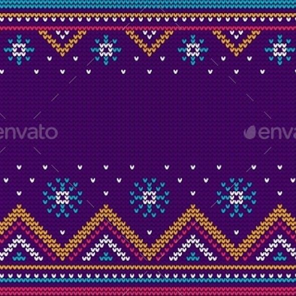 Christmas Sweater Knit Seamless Pattern