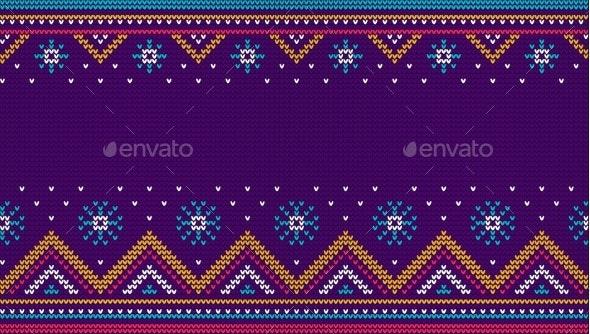 Christmas Sweater Knit Seamless Pattern - Backgrounds Decorative