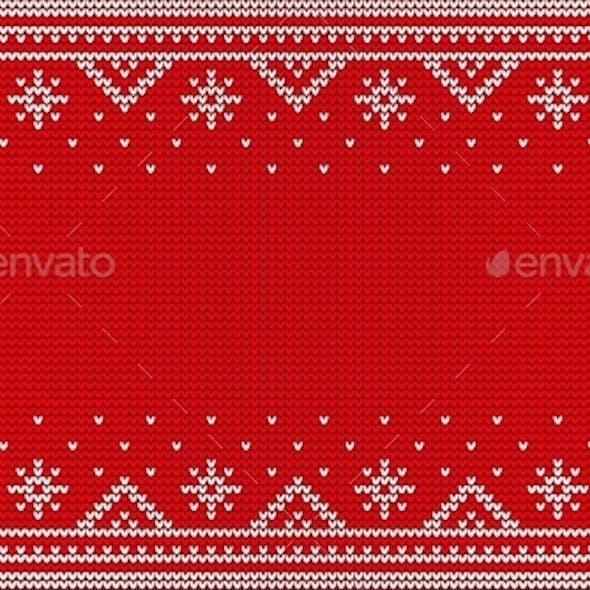Nordic Red Jumper Knitwear Ornament