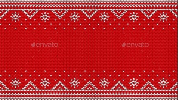 Nordic Red Jumper Knitwear Ornament - Christmas Seasons/Holidays