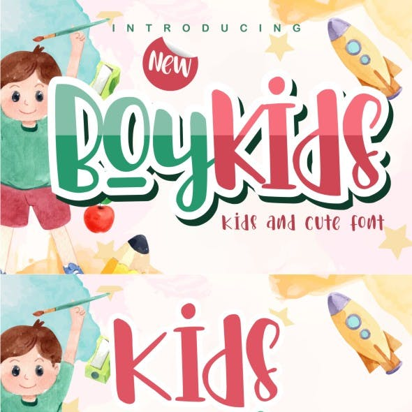 Boykids - Kids And Cute Font