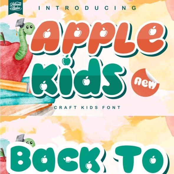 Apple kids - Crafting Kids Font