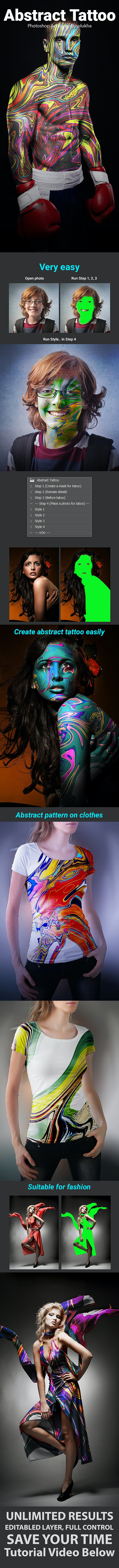 Abstract Tattoo - Photo Effects Actions