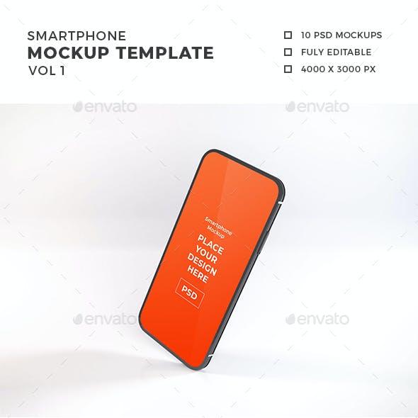 Smartphone Mockup Template Vol 1