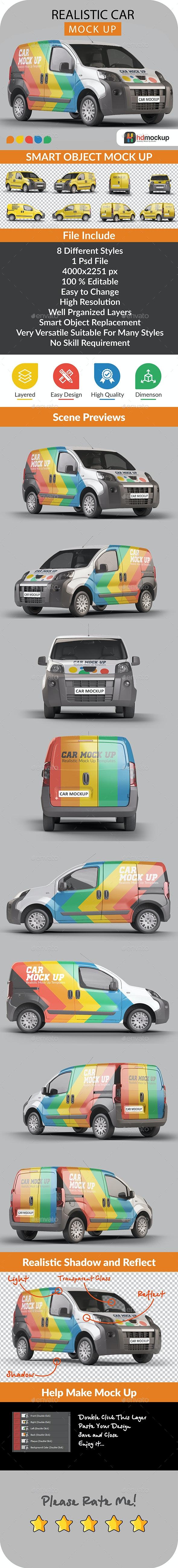 Photorealistic Panelvan Mock Up - 001 - Vehicle Wraps Print