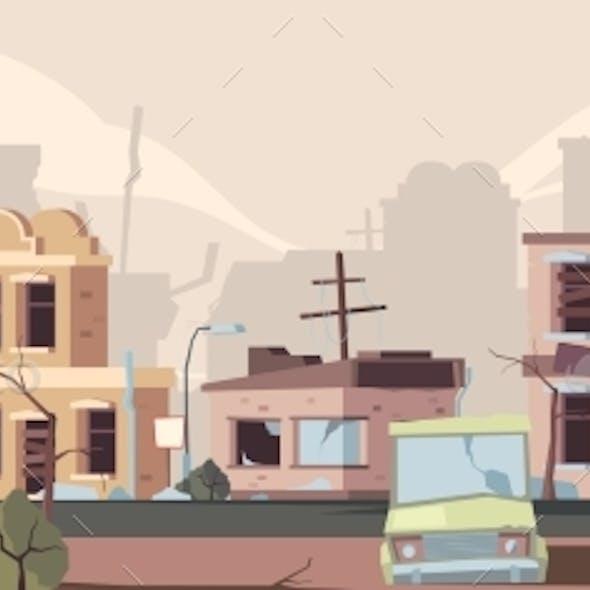 Apocalypse Damaged City.