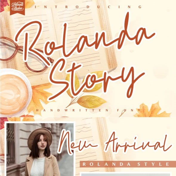 Rolanda Story - Handwritten Font