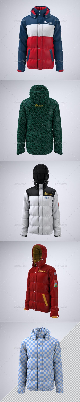 Puffer Jacket Mock-up - Apparel Product Mock-Ups