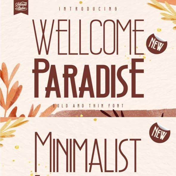 Wellcome Paradise - Modern Sans Serif Font